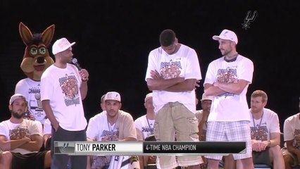 Tony Parker Talks About Tim Duncan and Manu Ginobili