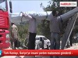 Türk Kızılayı, Suriye'ye insani yardım malzemesi gönderdi -