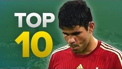 İSPANYA EVİNE DÖNDÜ - En İyi 10 Monte! İspanya 0-2 Şili 2014 Dünya Kupası B Grubu