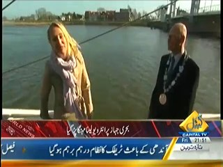 News Reporter Fell into the river