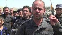 Irak: parade des combattants chiites d'al-Sadr dans Bagdad