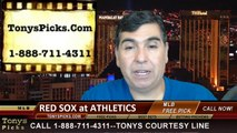 MLB Odds Oakland Athletics vs. Boston Red Sox Pick Prediction Preview 6-21-2014