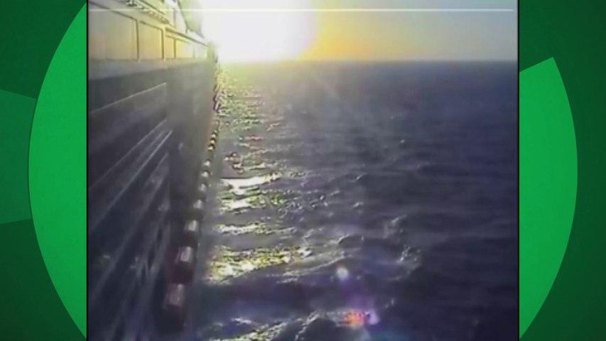Veja o momento em que turista mexicano cai do navio