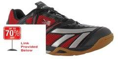 Best Rating Hi-Tec V-Lite Mens Cross Court Indoor Court Shoes Black/Red Review