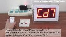 200M 3 Boutons Bouton d'Appel Sans Fil Et Hôte Du Récepteur