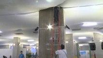 WM 2014: Mediencenter in Arena das Dunas unter Wasser