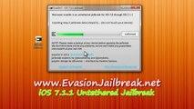 Evasion Untethered iOS 7.1.1 Jailbreak tool voor de iPhone 5 , iPhone 4, iPhone 3GS , iPad3