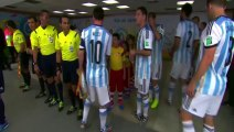 Messi not see a child, and per this not Greets the child. True History - Argentia vs Bosnia 2-1