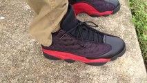Cheap Air Jordan 13 xiii retro bred 13 playoff black varsity red on feet