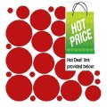 Best Price 34 DARK RED POLKA DOTS..WALL STICKERS DECALS ART DECOR Review