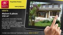 A vendre - maison - LES CLAYES SOUS BOIS (78340) - 6 pièces - 150m²