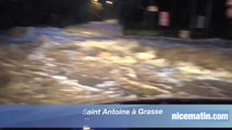 Un torrent dans le quartier Chèvrefeuille Saint Antoine à Grasse