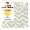 Best Price Yellow and Gray Chevron Zig Zag Fabric Memory/Memo Photo Bulletin Board by Sweet Jojo Designs Review