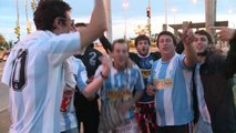 Les Argentins envahissent Porto Alegre et célèbrent Messi