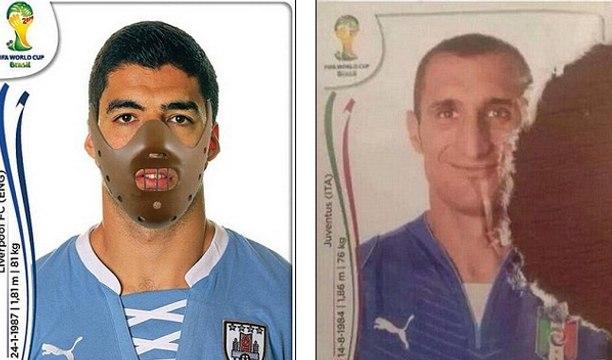 Les nouvelles images Panini de Suarez et Chiellini !