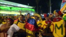 Groupe C - Les supporters colombiens en folie !