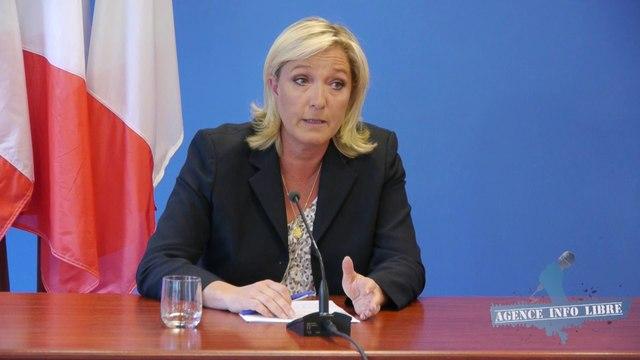Interrogée sur la Ligue de Défense Juive, déstabilisée, Marine le Pen esquive la question