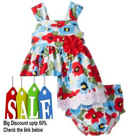 Cheap Deals Sweet Heart Rose Baby-Girls Infant Floral Dressy Sundress Review