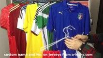 2014 FIFA Brazil World Cup National Team Soccer Jerseys of Brazil, Portugal, Argentina, Germany, Spain, France