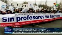 Estudiantes y profesores chilenos rechazan reforma educativa