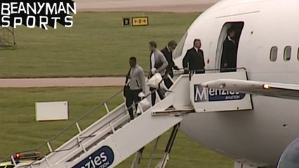 World Cup 2014 - England Team Arrive Back In The UK With No Fans Or Fanfare To Greet Them