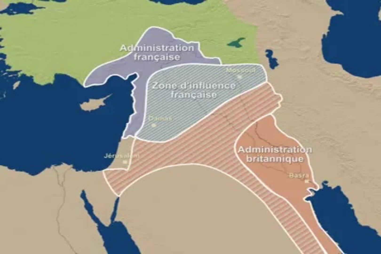 Le Proche Orient et les accords Sykes-Picot de 1916
