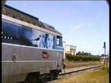 INTERCITES 4492, LE VENTADOUR, BORDEAUX--CLERMONT-FD, s'arrête à LAQUEUILLE, le 21 Juin 2014. (vidéo-duo)
