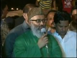 Delegetion of Ramdhan chepa  Vist MQM Sit-in Numaish to Solidarity with Mr.Altaf Hussain
