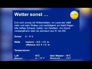 Wetterbriefing zur Kieler Woche 2012 mit Meeno Schrader 18.06.2012