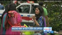 Floor collapses at religious gathering, dozens injured