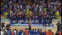 Celebració de la Lliga ACB al Palau Blaugrana
