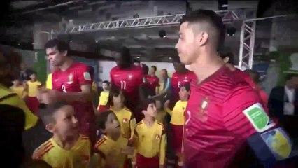 Cristiano Ronaldo embraced kids before the match Portugal vs Ghana (World Cup 2014)