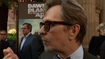 Gary Oldman talks humans versus apes at Dawn of the Planet of the Apes premiere