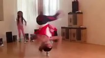 She is defying gravity, for throwback breakdancers!