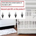 Best Price New Arrivals Zig Zag 3 Piece Baby Crib Bedding Set, Grey Review
