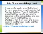Fountain Buildings Is The Best Storage Buildings Charlotte NC Company