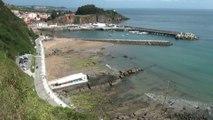 Paisaje y ambiente costa y playa de Candás, Asturias 29 junio 2014