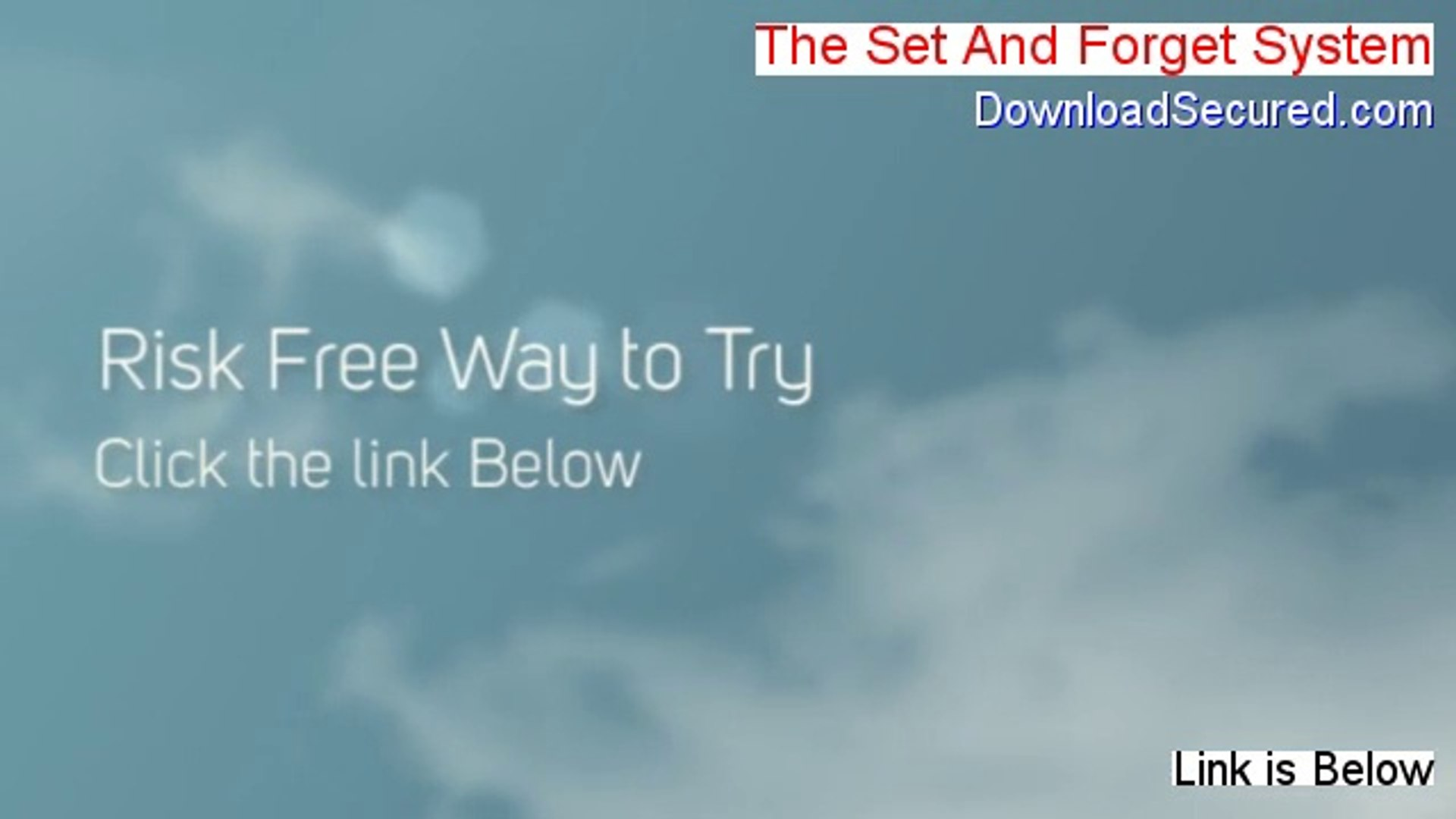 The Set And Forget System Review - the forex set and forget profit system [2014]