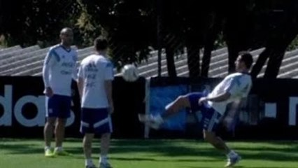 World Cup 2014 - Messi Leads Game Of Two Touch Keepy Ups In Argentina Training