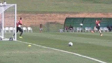 World Cup 2014 - Adnan Januzaj Scores With A Stunning Volley During Belgium Training