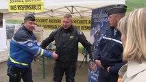 Alpes-de-Haute-Provence: relais motard sécurité routière franco-italien au col de Larche