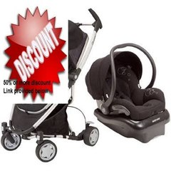 Clearance Quinny Zapp Xtra Stroller + Maxi-Cosi Mico Air Protect Infant Car Seat - Rocking Black/Black Review