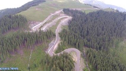 Drumul spre vârful Rarău (filmare aeriană)