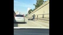 Road rage de motard qui finit mal pour lui!