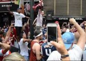 American Fans Celebrate as USA Advances in World Cup