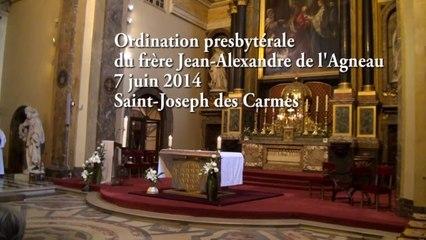 Ordination du frère Jean-Alexandre