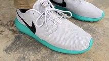 Custom new 2015 nike roshe run! All white roshe customs w on feet review!