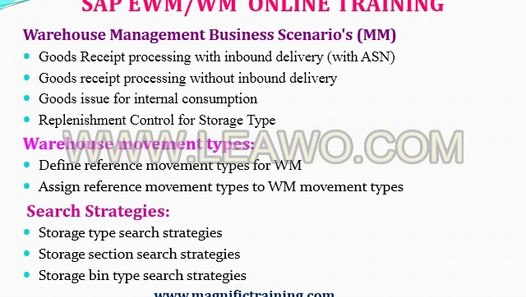 SAP WM courses Online SAP WM Certification & Training in noida with