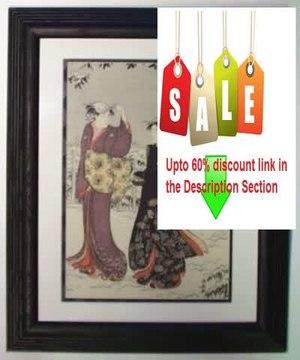 Best Deals Kiyonaga Snow Scene 1 ~ Framed Vintage Woodblock Print Review