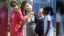 Kate Middleton Is Pretty In Pink, Greets Kids During Charity Visit To London School